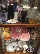 Estate Glass, China, Pottery Lot