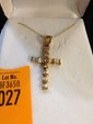 Estate 10kt Gold Cross with Diamonds