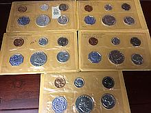 5 1962 Uncirculated U.S. Mint Sets