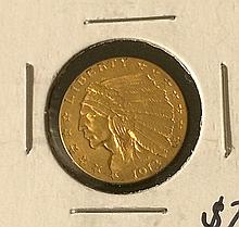 1913 $2.5 Indian Head Gold Coin
