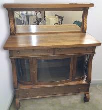 Estate Oak Curio Side Board