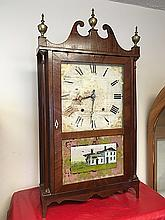 Riley Whiting Pillar and Scroll Clock
