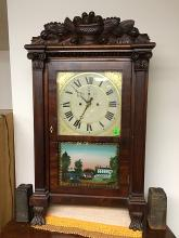 Rare S. Clarke's Salem Bridge Shelf Clock