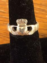 Sterling Silver Claddaugh Ring - St. Jude