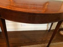 Lot 6: 2 Matching Demilune Tables