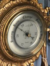 Lot 9: Gold Gilt Barometer
