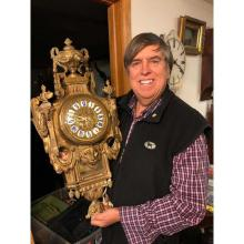 Lot 10: French Bronze Cartel Clock