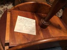 Lot 21: Vintage Hand Crafted Table with Secret Compartments