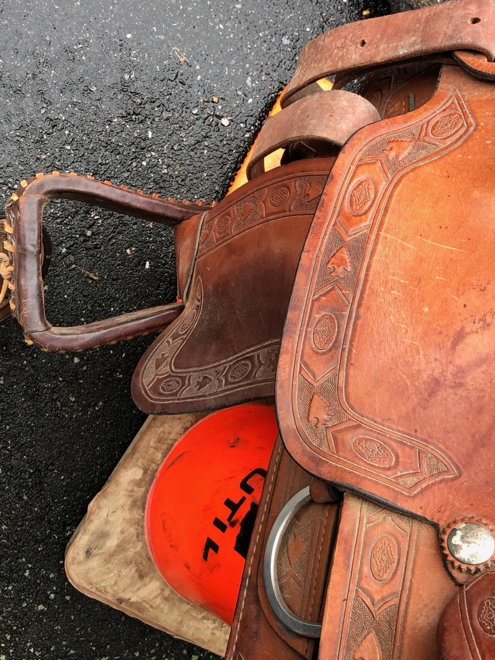 Lot 30: Rocking R Western Saddle