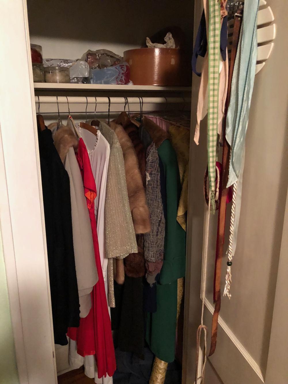 Vintage Cloths, Closet and Cedar Chest