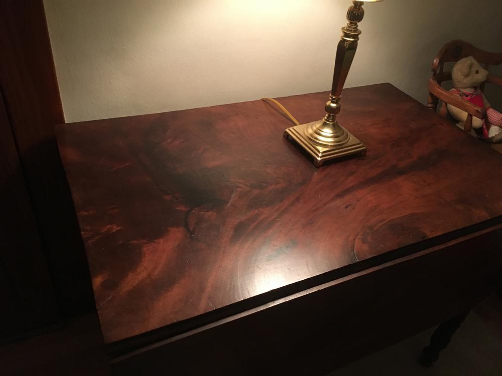 Lot 42: Solid Mahogany Drop Leaf Table