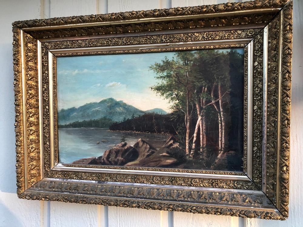 Vintage Oil Painting - Highland Lake