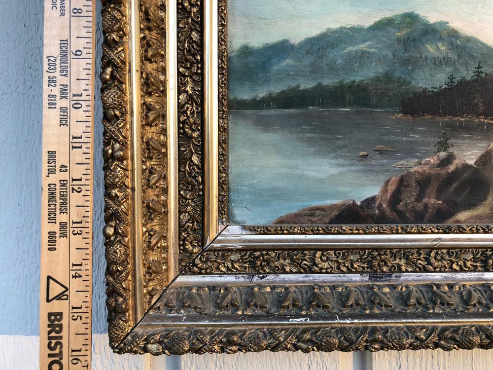 Lot 47: Vintage Oil Painting - Highland Lake