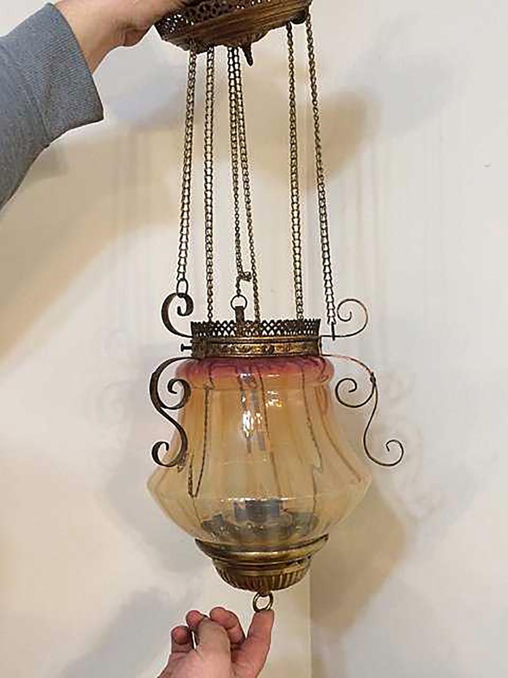 Lot 55: Victorian Hanging Lamp
