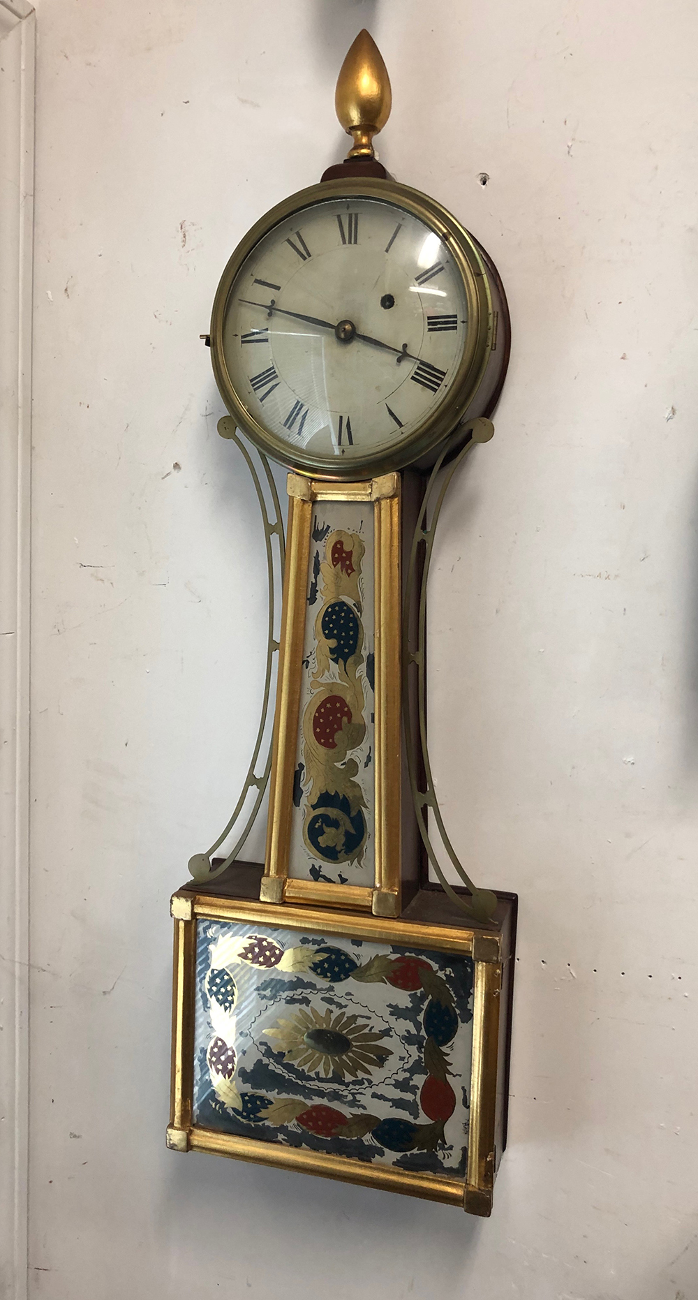Antique Presentation Banjo Clock