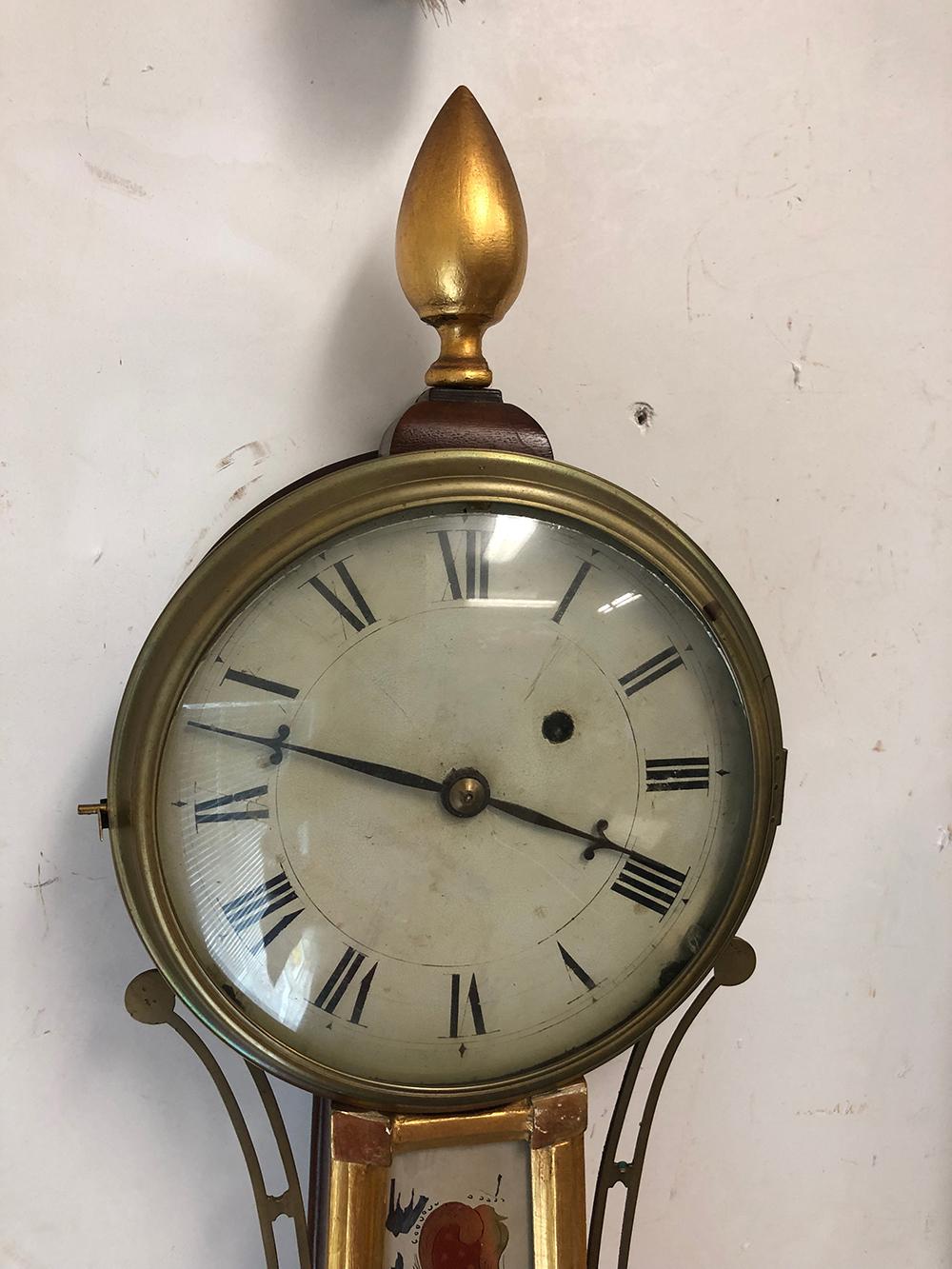 Lot 71: Antique Presentation Banjo Clock