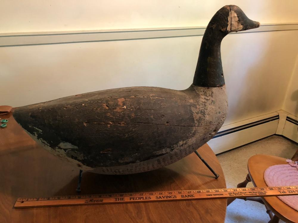 Lot 78: Folk Art Carved Goose Decoy