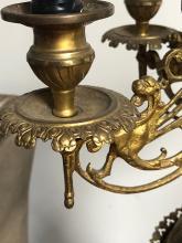 Lot 87: Monumental 3 Piece Victorian Bronze Mantel Clock