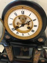 Lot 95: 3 PIece Victorian Marble Mantel Clock Set