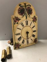 Lot 97: Early Wooden Wag on the Wall Clock