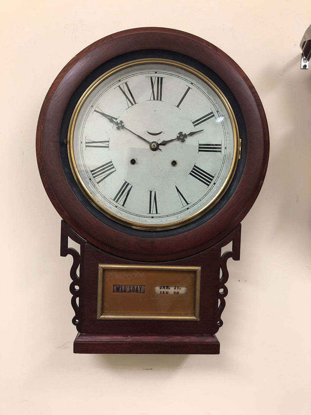 Very Rare Jerome Calendar Wall Clock