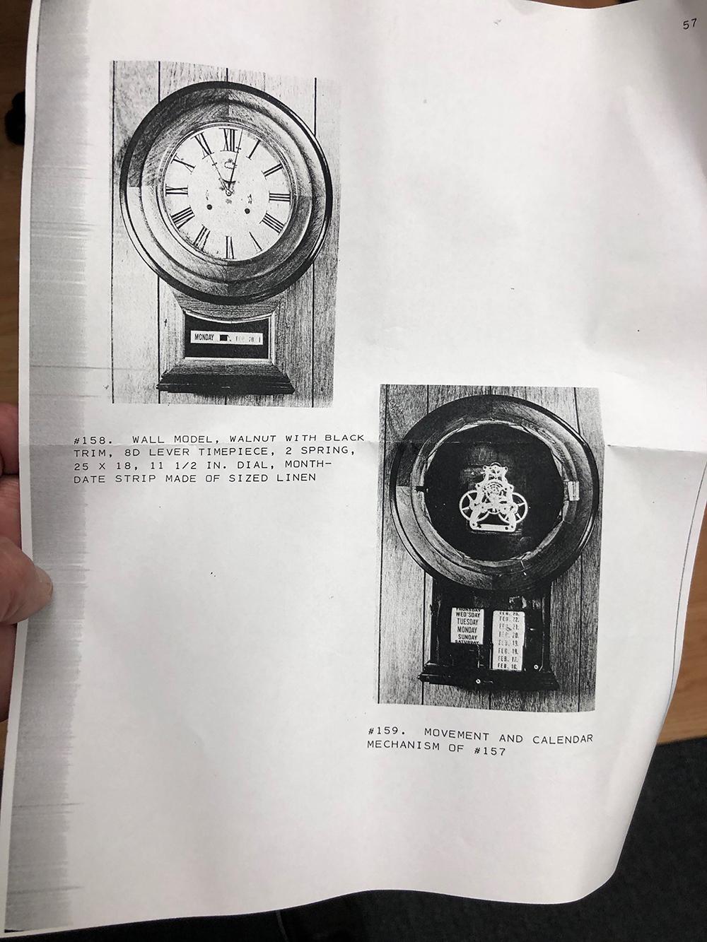 Lot 99: Very Rare Jerome Calendar Wall Clock
