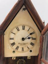 Lot 101: Brewster and Ingraham Double Gothic Steeple Clock