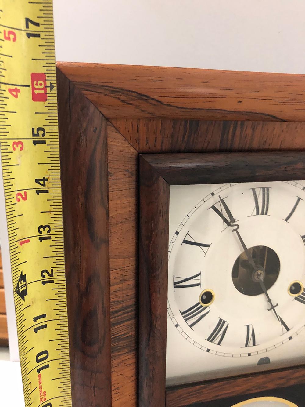 Lot 105: Seth Thomas Miniature OG Style Rowewood Clock