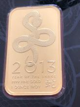 Lot 106: 1 Oz. Gold Bar