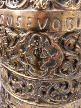 Lot 111: 3 Piece French Bronze Clock Mantel Set