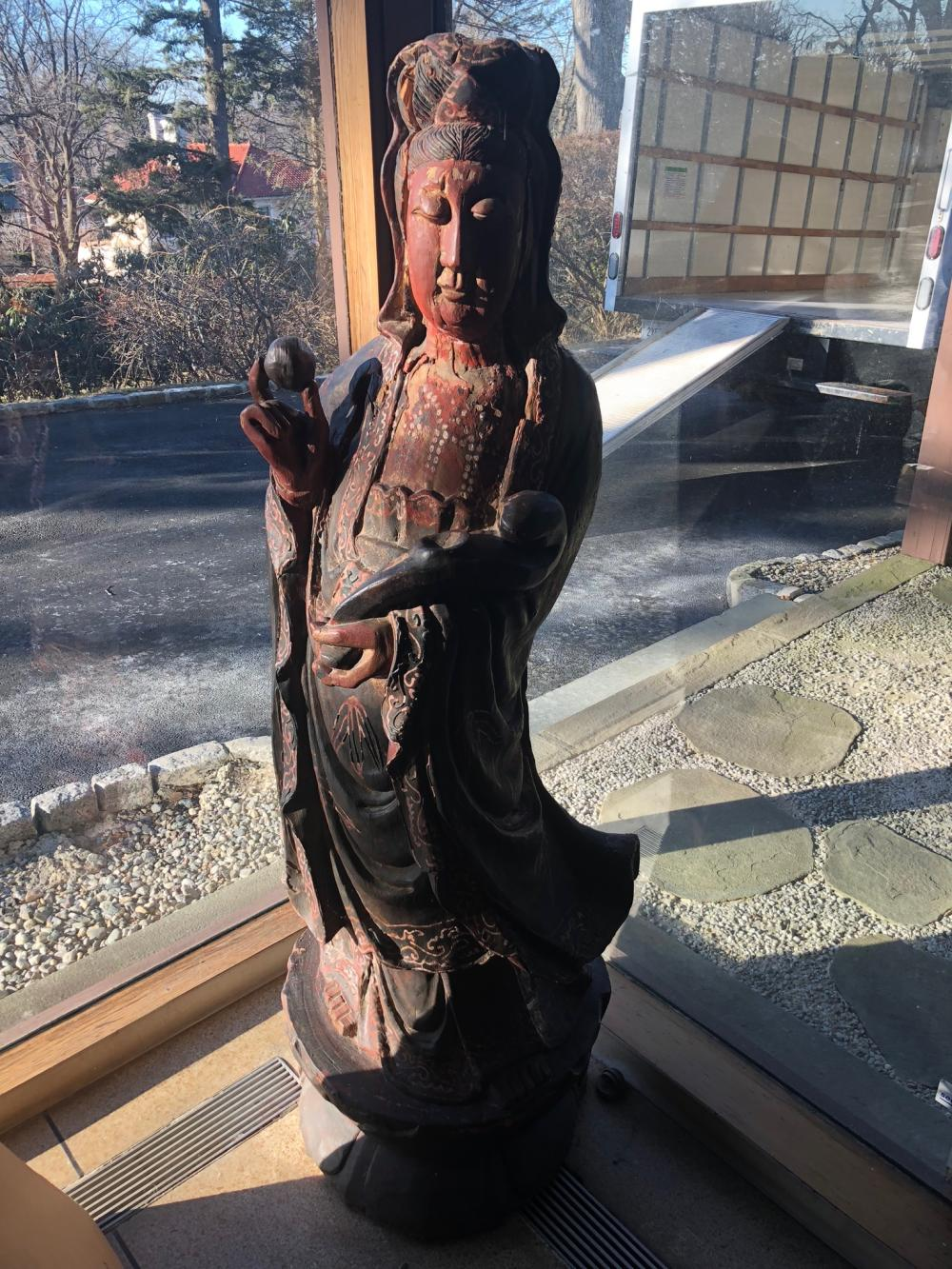 Asian Wooden Carved Statue