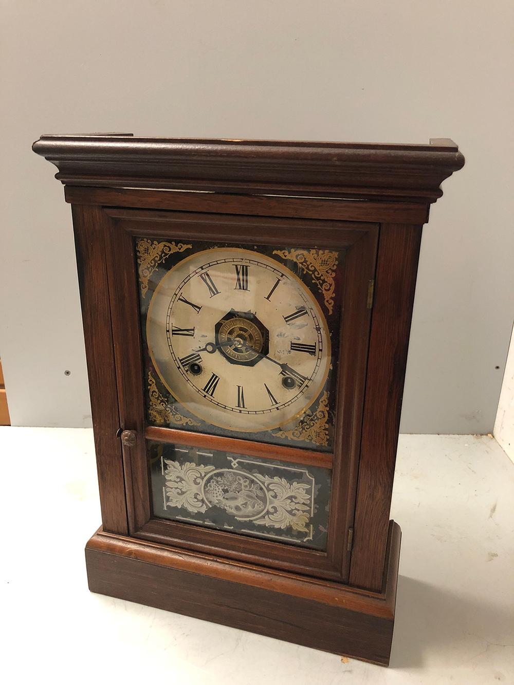 Lot 121: Jerome Rosewood Shelf Clock
