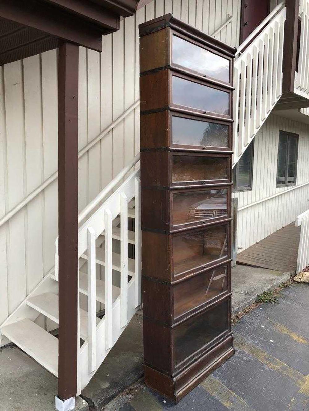 Lot 126: Oak Barrister Bookcase