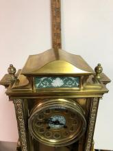 Lot 132: Crystal Japy Freres Regulator Clock with Wedgewood