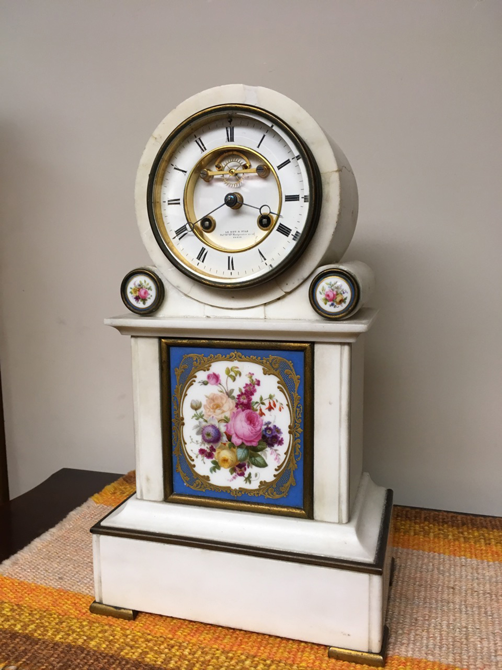 Sevres Marble Clock