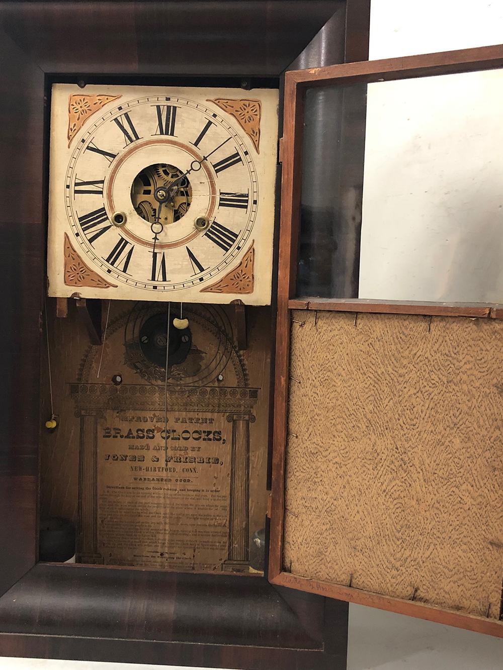Lot 135: Jones & Frisbie OG Mantel Clock