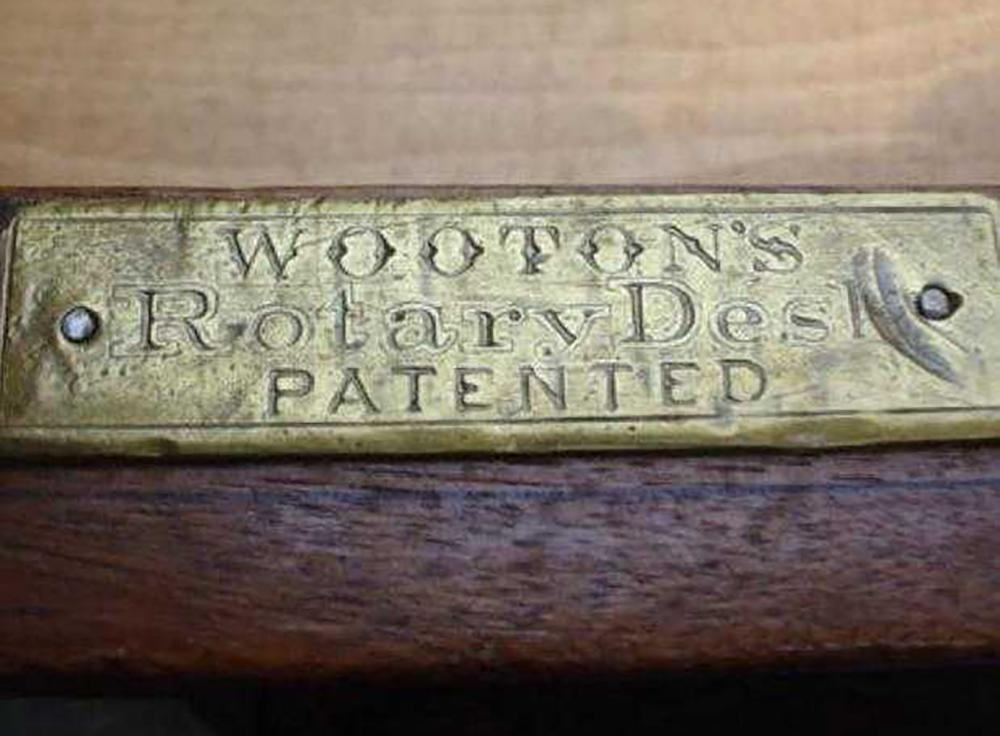 Lot 136: Wooton's Rotary Desk
