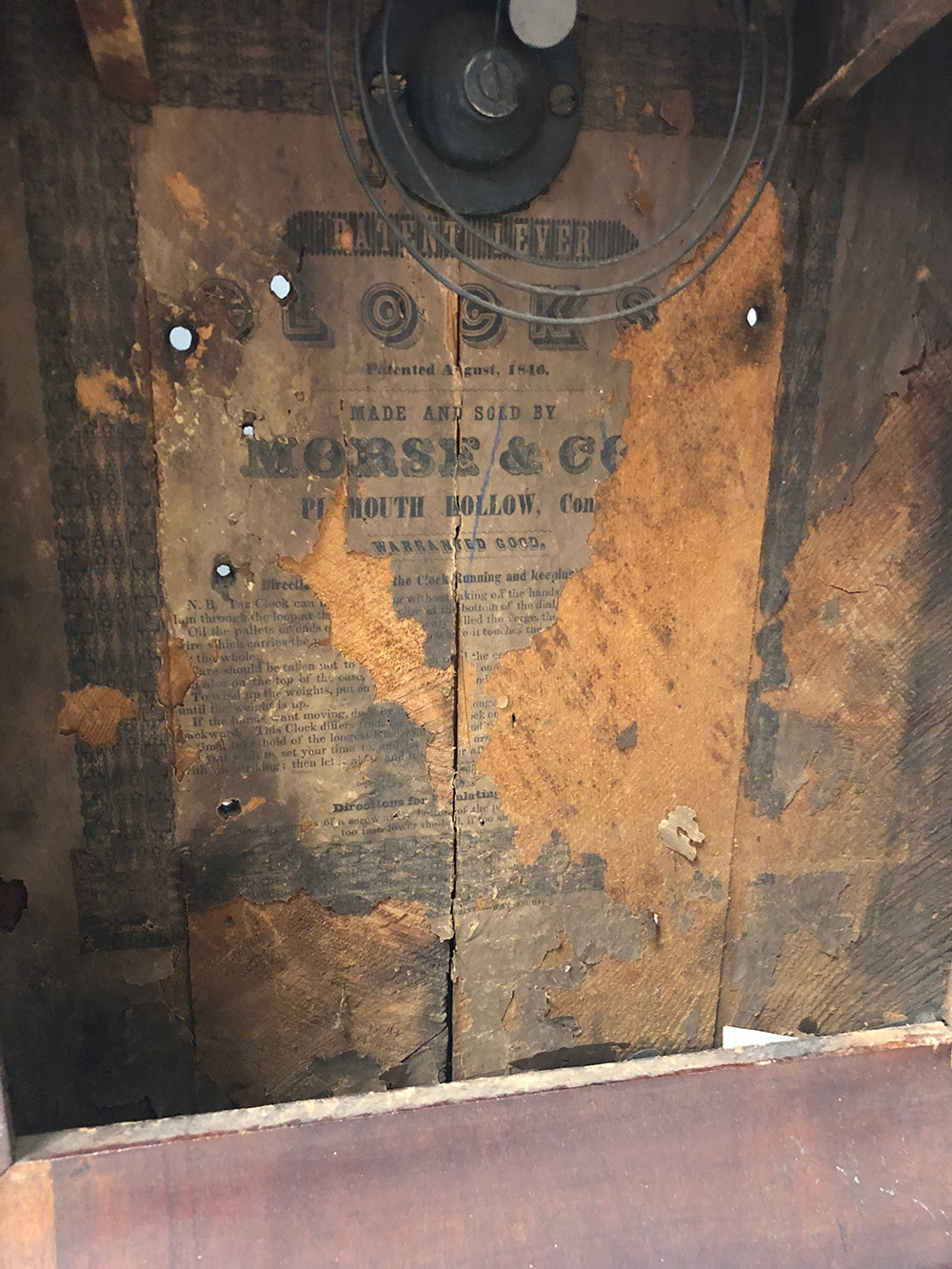 Lot 137: Morse & Co. OG Mantel Clock