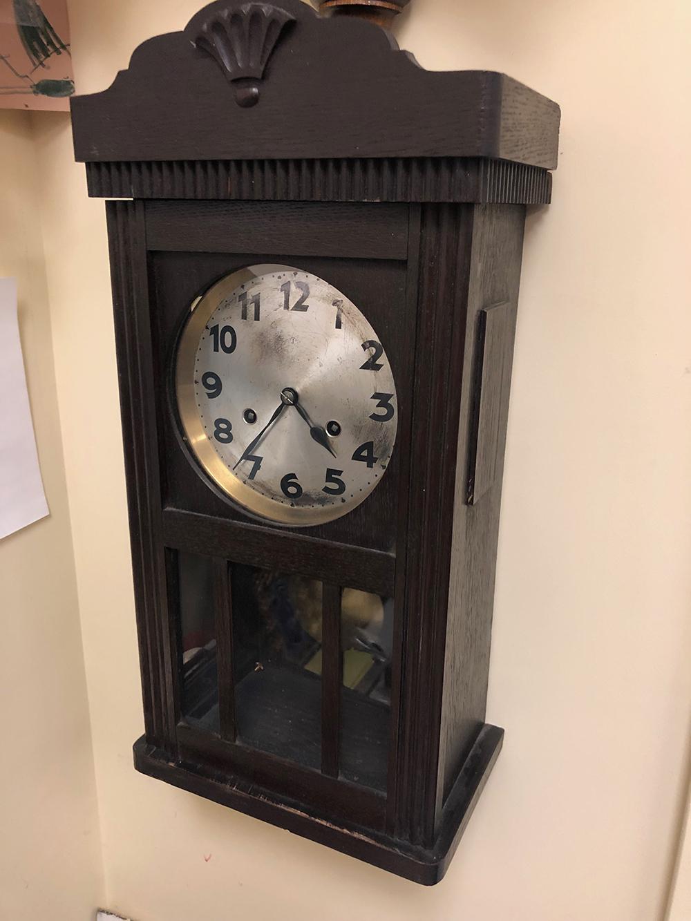Oak Arts and Crafts Clock