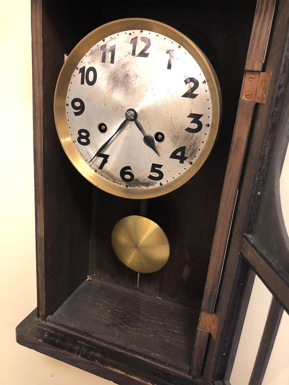 Lot 141: Oak Arts and Crafts Clock
