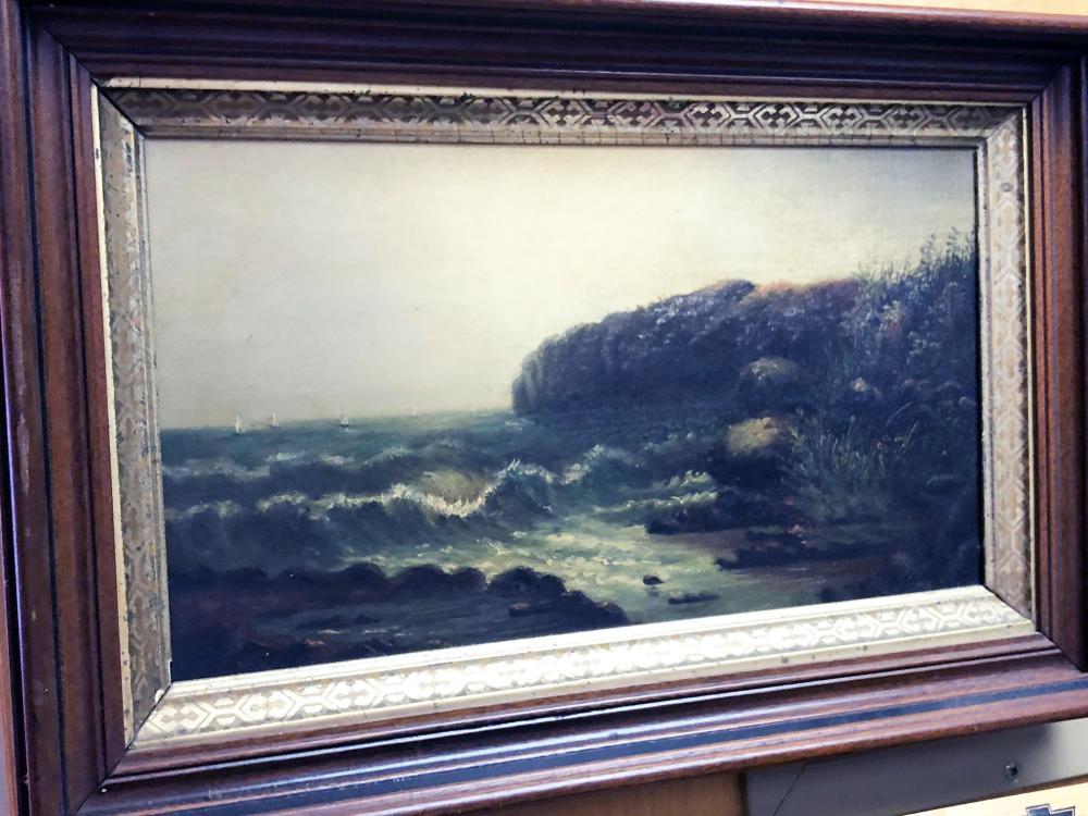 Vintage Seascape Oil Painting