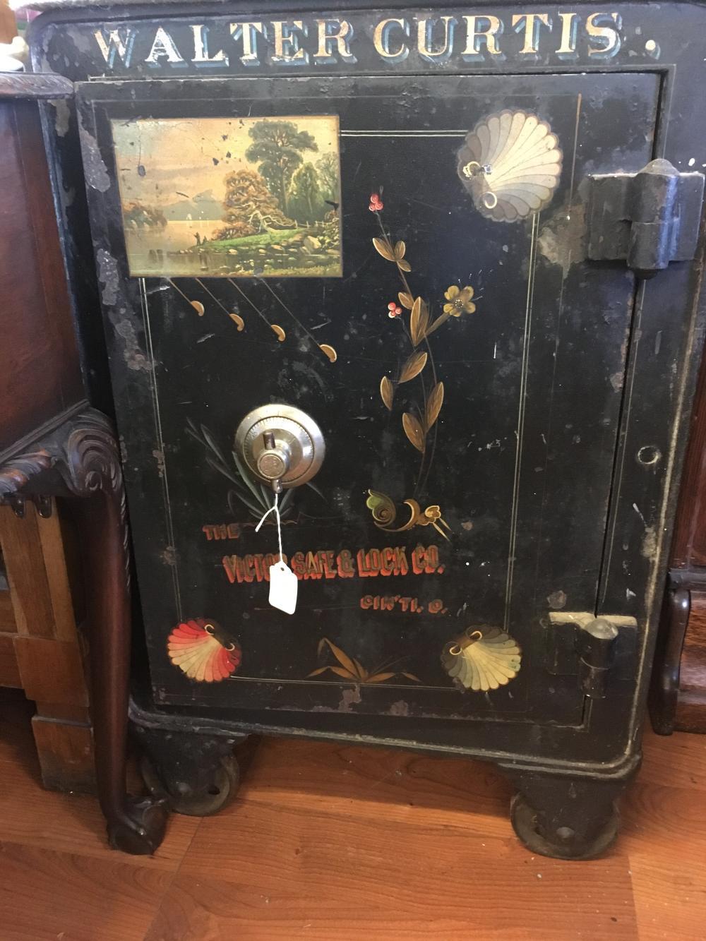 Vintage Walter Curtis Floor Safe