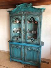 Lot 154: Antique French China Cabinet
