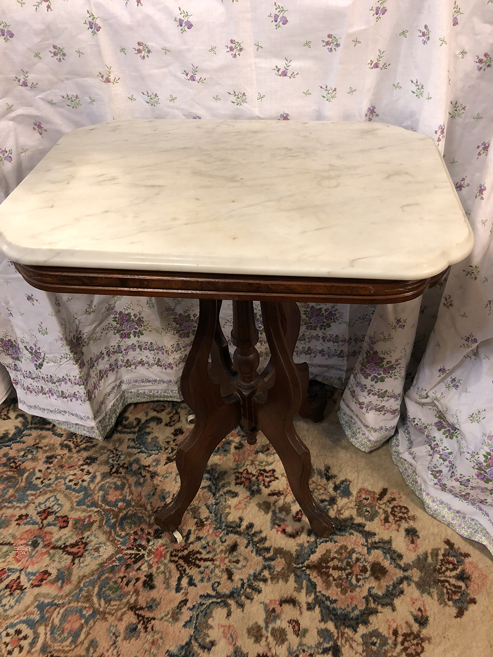Lot 52: Victorian Marble Top Table
