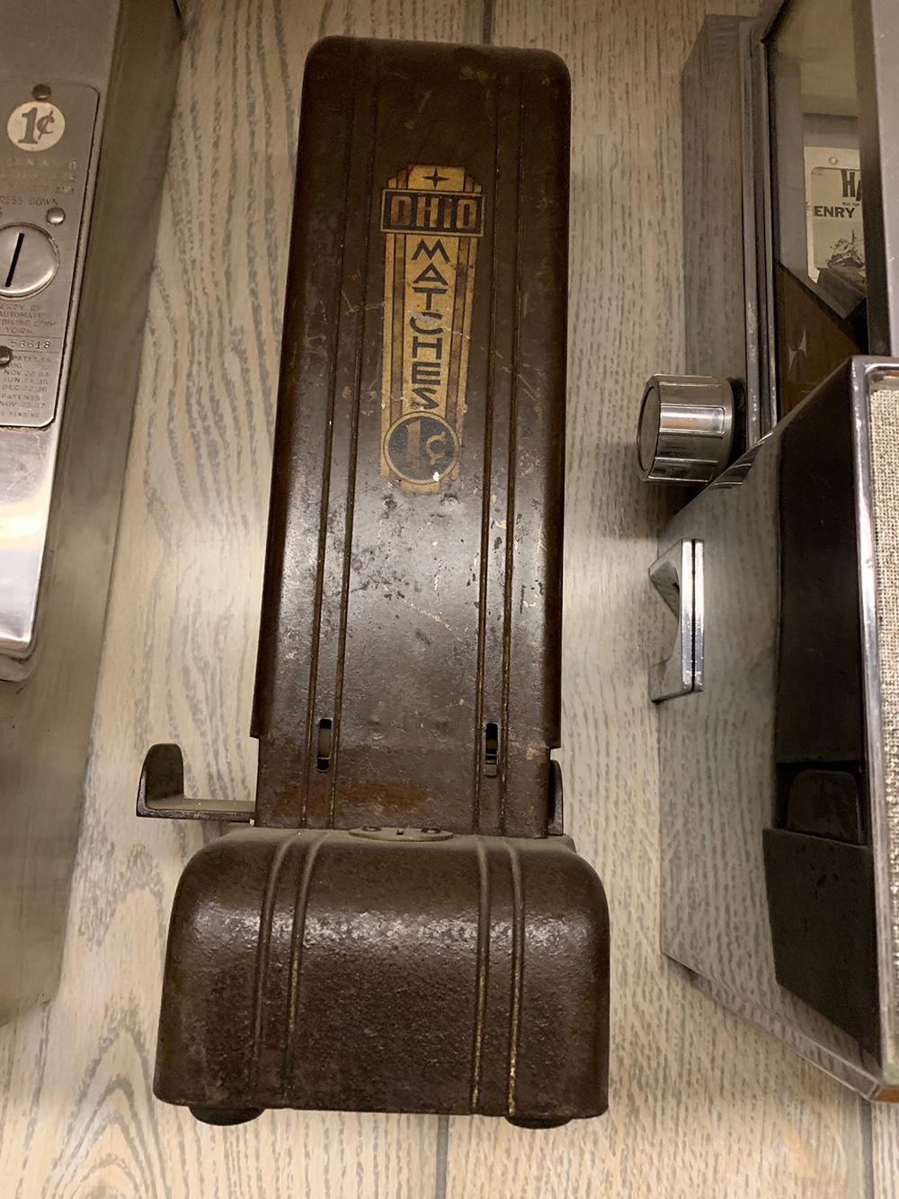 Vintage Ohio Matches Vending Machine