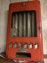 Lot 185: Vintage 1 Cent Gum Vending Machine