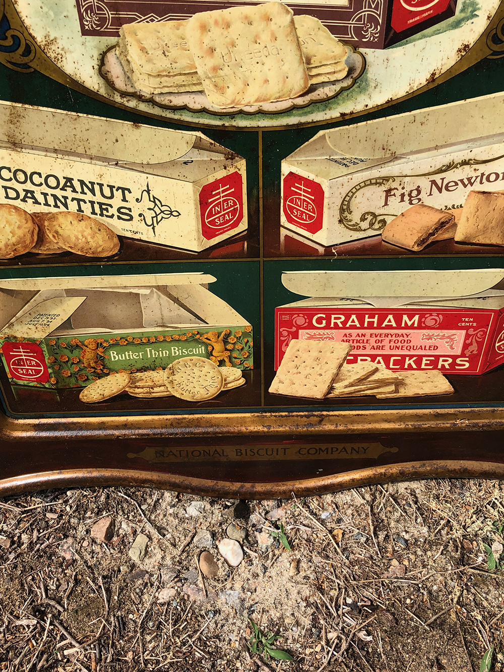 Lot 194: National Biscuit Company Self Framed Tin Sign