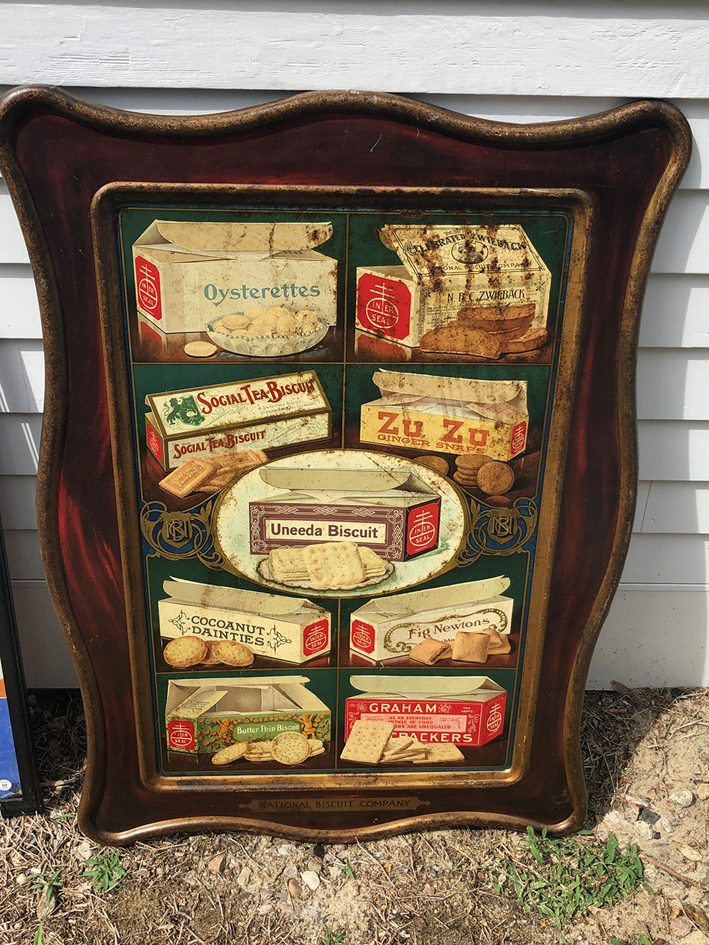 National Biscuit Company Self Framed Tin Sign