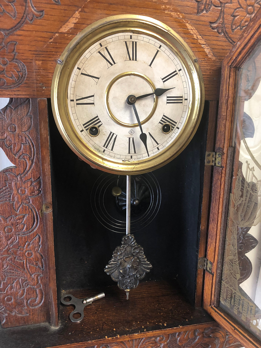 Lot 198: Gilbert Gingerbread Clock