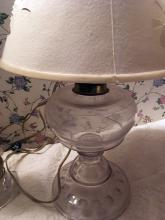 Lot 199: Vintage Glass and Oil Lamps